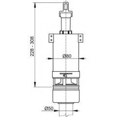 ALCAPLAST - Vypouštěcí ventil A-02 pro nízko položenou nádrž ALCA PLAST A02