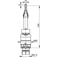 ALCAPLAST - Vypouštěcí ventil A-06 pro WC-moduly (A100,101,102) mimo výšky 850 Alca A06