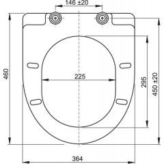 WC sedátko se zpomalením-softclose A66 bílé ALCAPLAST A66 A66