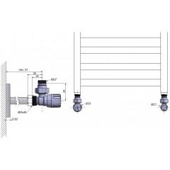 AQUALINE - ECO připojovací sada rohová, nikl/bílá CP9810