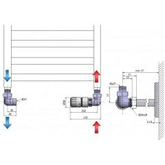 AQUALINE - ECO připojovací sada termostatická, pravá, nikl/bílá CP9912R