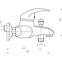 NOVASERVIS - Vanová baterie bez příslušenství 150 mm Titania Lux chrom 91020/1,0