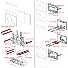 Alcaplast ovládací deska Flat TURN kov-mat/lesk TURN
