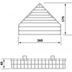 AQUALINE - CHROM LINE drátěná rohová mýdlenka, chrom 37003