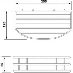 AQUALINE - CHROM LINE drátěná police jednoduchá, chrom 37004