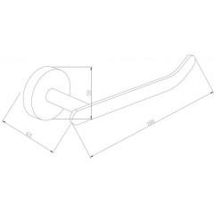 MEXEN - Loft držák papíru černá - 7012633 - 70 7012633-70