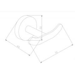 MEXEN - Loft dvojitý držák na ručníky černá - 7012635 - 70 7012635-70