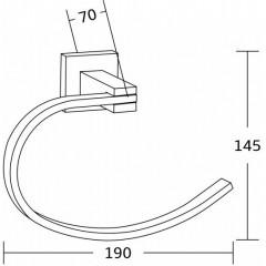 MEXEN - Vane ručník černá - 7020932 - 70 7020932-70