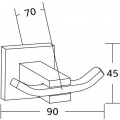 MEXEN - Vane double ručník Háček na černé - 7020935-70 7020935-70