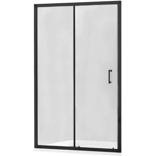 MEXEN - Apia posuvné sprchové dveře 120 cm, transparent, černá 845-120-000-70-00