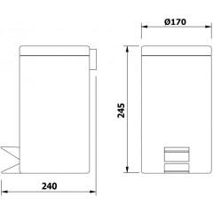 AQUALINE - NICEA odpadkový koš 3l, bílá 7500