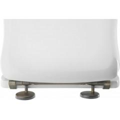 KERASAN - RETRO WC sedátko, bílá/bronz 109301