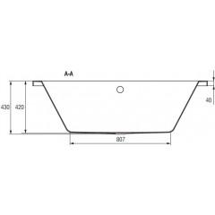 CERSANIT - VANA INTRO 140X75 cm (S301-065)
