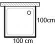 Čtvercové sprchové kouty 100x100cm