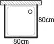 Čtvercové sprchové kouty 80x80cm