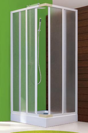 Aquatek ROYAL A4 Sprchová zástěna čtvercová 80x80cm, plast