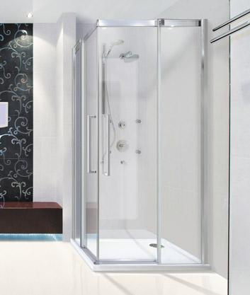 Aquatek Admiral A4 90 cm CHROM Luxusní sprchová zástěna čiré sklo 8mm