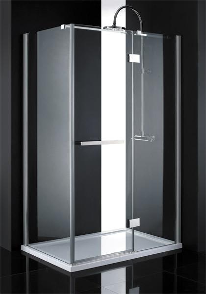 Aquatek CRYSTAL R23 CHROM Sprchová zástěna čiré sklo 8mm 120x80x200cm