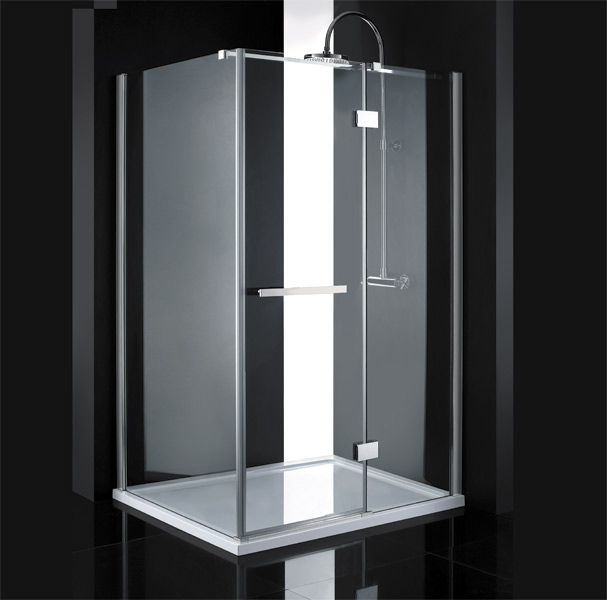 Aquatek CRYSTAL R33 CHROM Sprchová zástěna čiré sklo 8mm 120x90x200cm