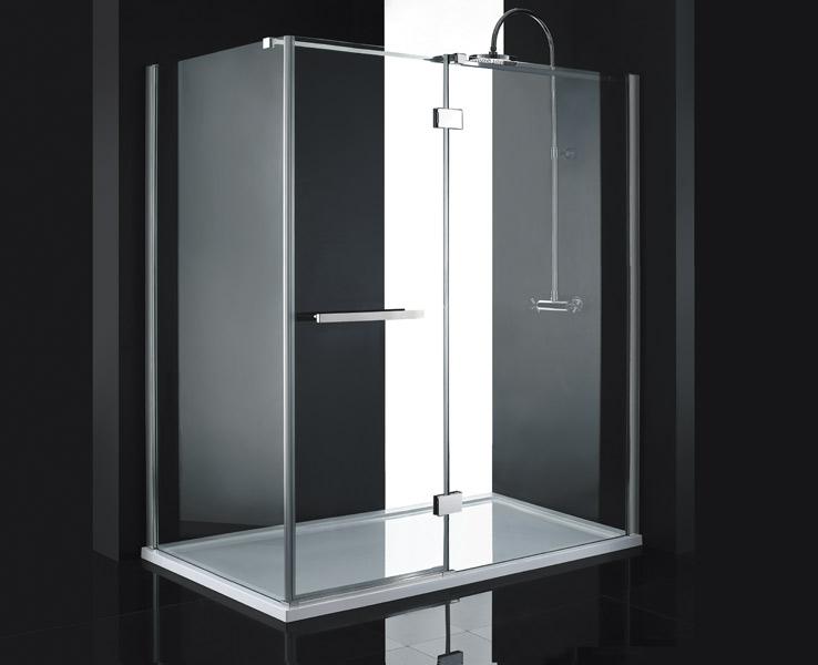 Aquatek CRYSTAL R63 CHROM Sprchová zástěna čiré sklo 8mm 160x90x200cm