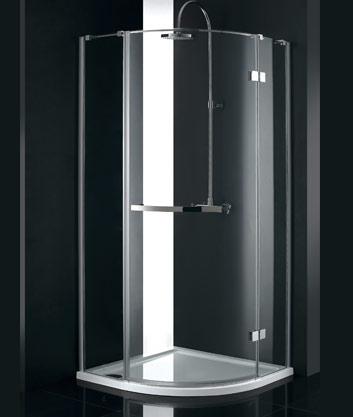 Aquatek CRYSTAL S3 90 cm CHROM Sprchová zástěna čiré sklo 8mm