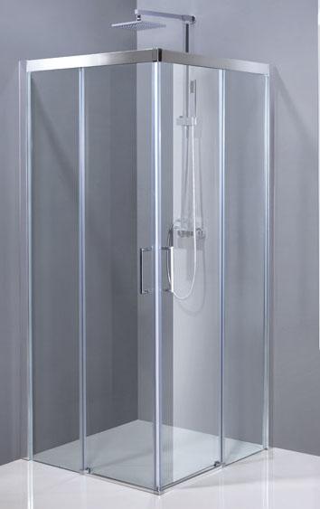 Aquatek DYNAMIC A4 90cm Chrom Sprchová zástěna čtvercová
