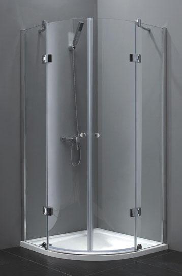Aquatek EXTRA S7 90 cm CHROM Sprchová zástěna čtvrtkruhová
