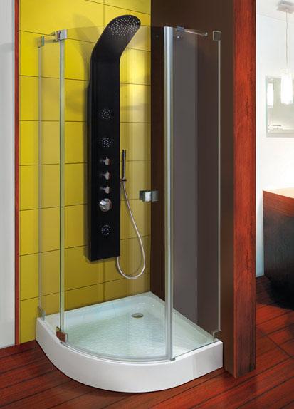 Aquatek FRESH-Way S5 90 cm CHROM Sprchová zástěna čiré sklo 8mm