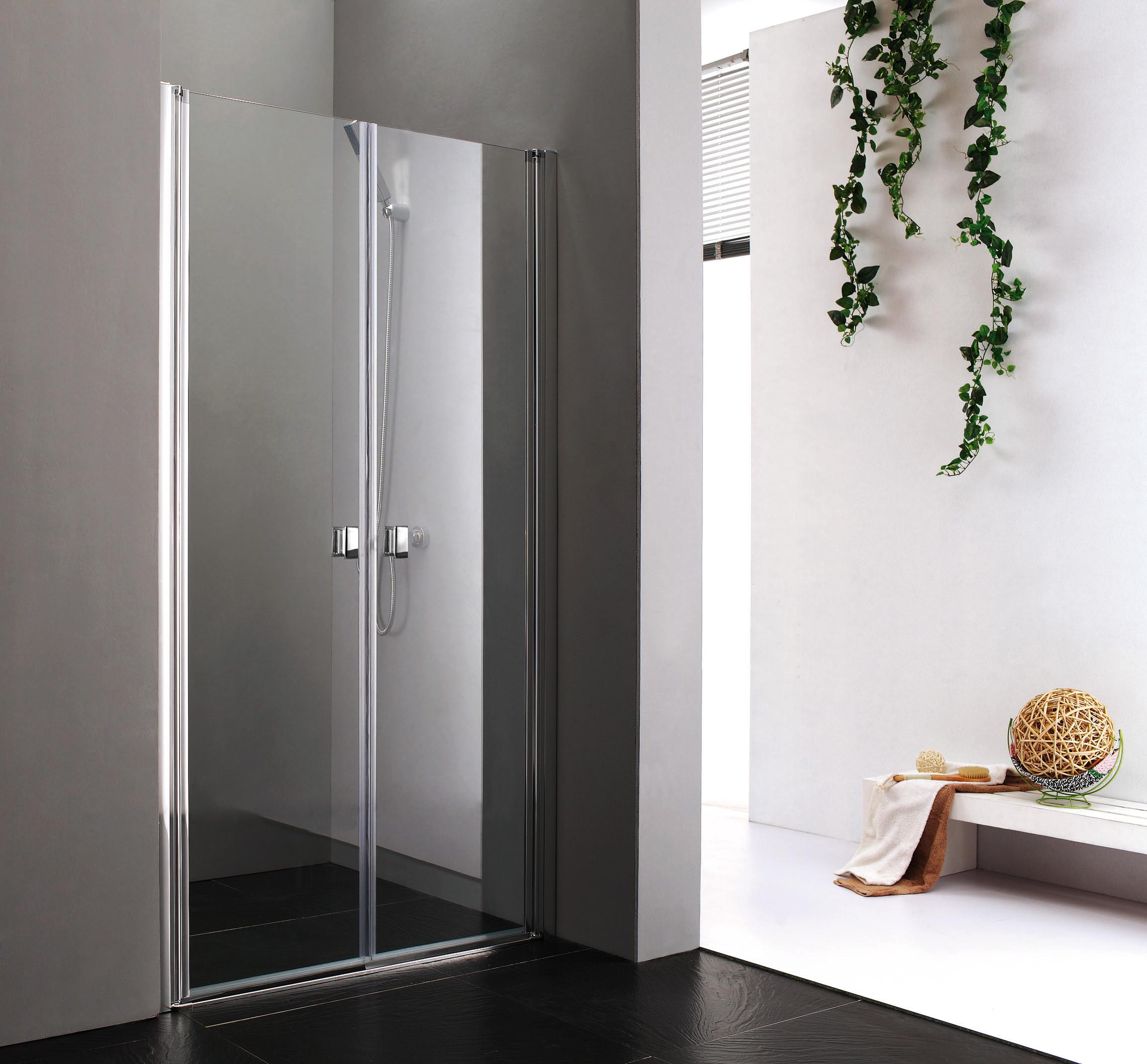 Aquatek Glass B2 80 sprchové dveře do niky dvoukřídlé 77-81cm