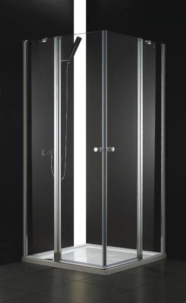 Aquatek GLASS A4 90 cm CHROM Sprchová zástěna 90x90x195cm
