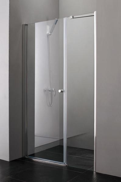 Aquatek Glass B5 120 CHROM Sprchové dveře do niky matné sklo, 116 - 120 cm