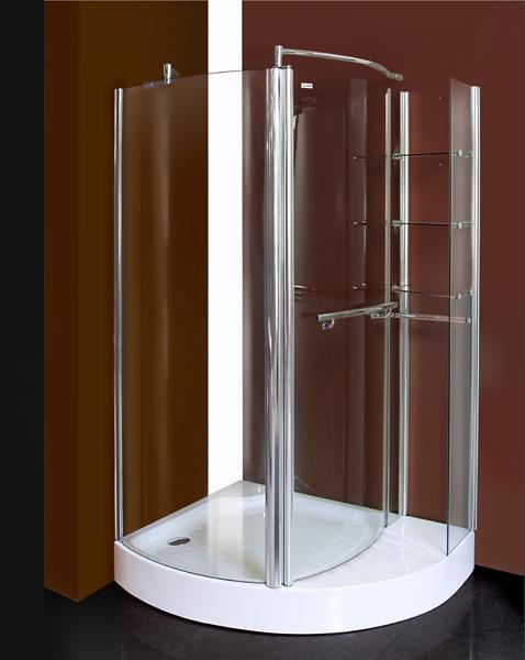 Aquatek GLASS S1 120 cm CHROM Sprchová zástěna 120x90x193 cm