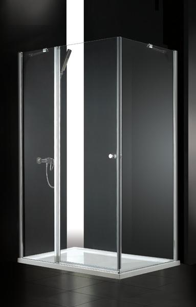 Aquatek GLASS R33 120x90cm CHROM Sprchová zástěna čiré sklo