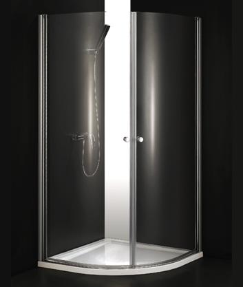 Aquatek GLASS S2 90 cm CHROM Sprchová zástěna čiré sklo