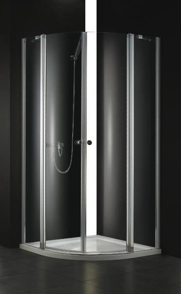 Aquatek GLASS S6 90 cm CHROM Sprchová zástěna čiré sklo