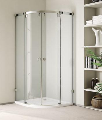 Aquatek INFINITY S7 90 cm CHROM Luxusní sprchová zástěna čiré sklo 8mm