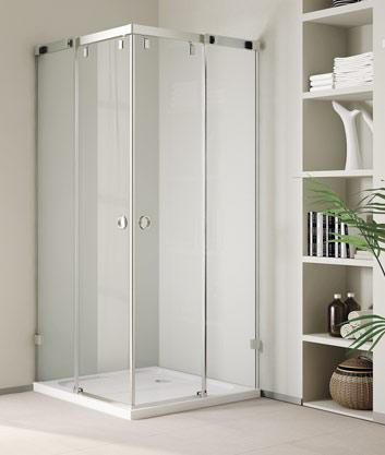 Aquatek INFINITY A4 90 cm CHROM Luxusní sprchová zástěna čiré sklo 8mm