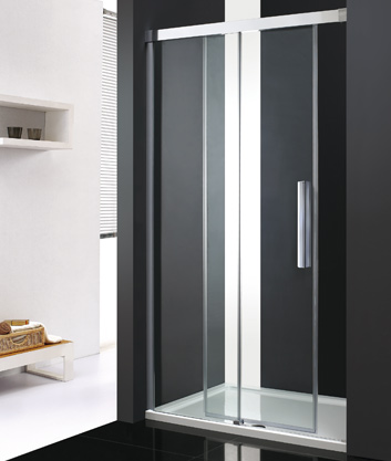 Aquatek Nobel B2 - Luxusní sprchové dveře zasouvací s brzdou 112-116cm, sklo 8mm