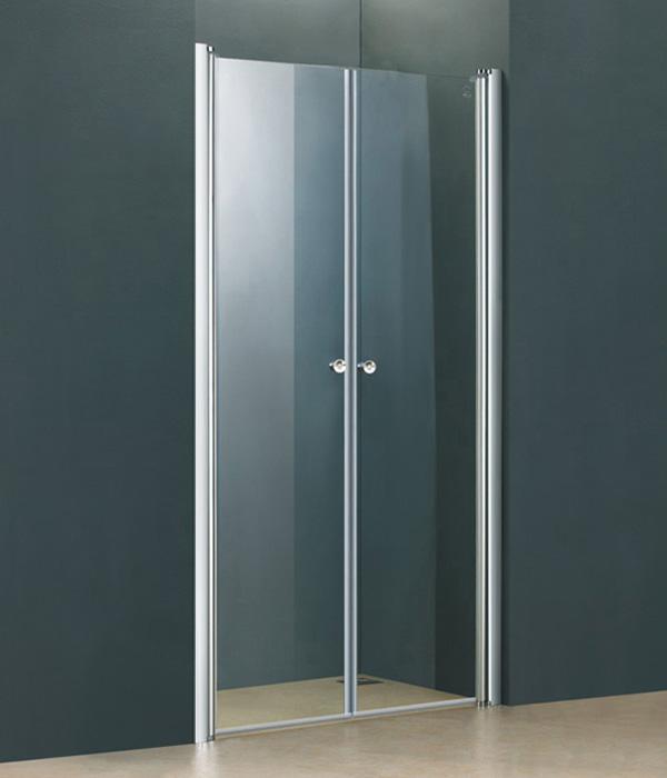 Sprchové dveře do niky POPY 90 dvoukřídlé 86-90 cm čiré sklo