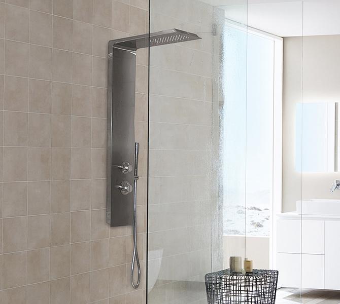 Aquatek DOMINGO Hydromasážní sprchový panel nerezový