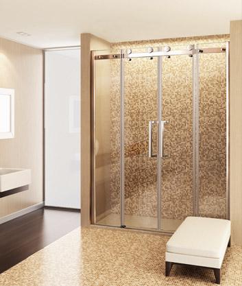 Aquatek Tekno B4 - Luxusní sprchové dveře zasouvací 166-170 cm, sklo 8mm