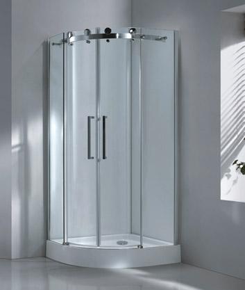 Aquatek TEKNO S4 90 cm CHROM Sprchová zástěna čiré sklo, 8mm