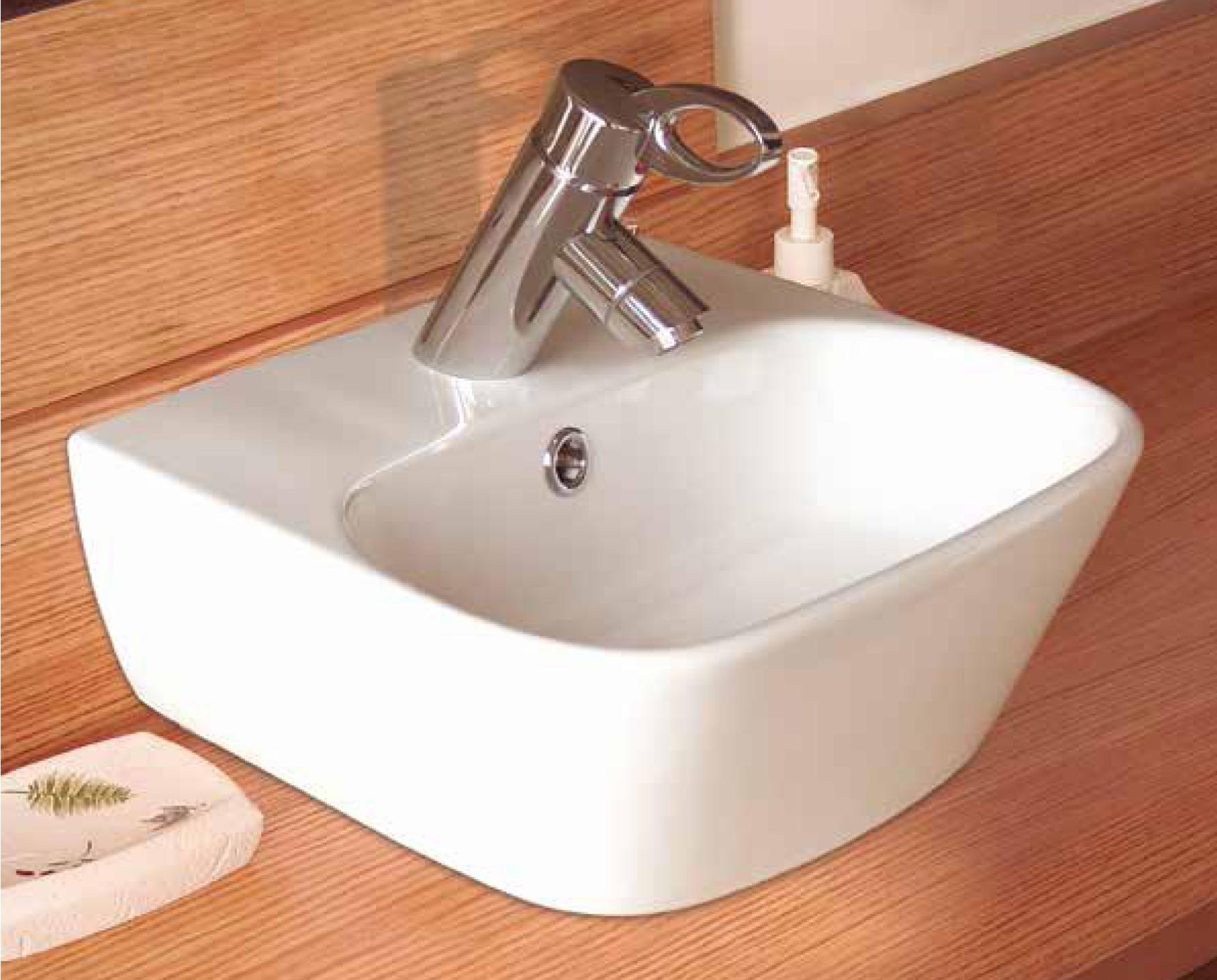 Aquatek D1 keramické umyvadlo 42,5x30x14,5 cm