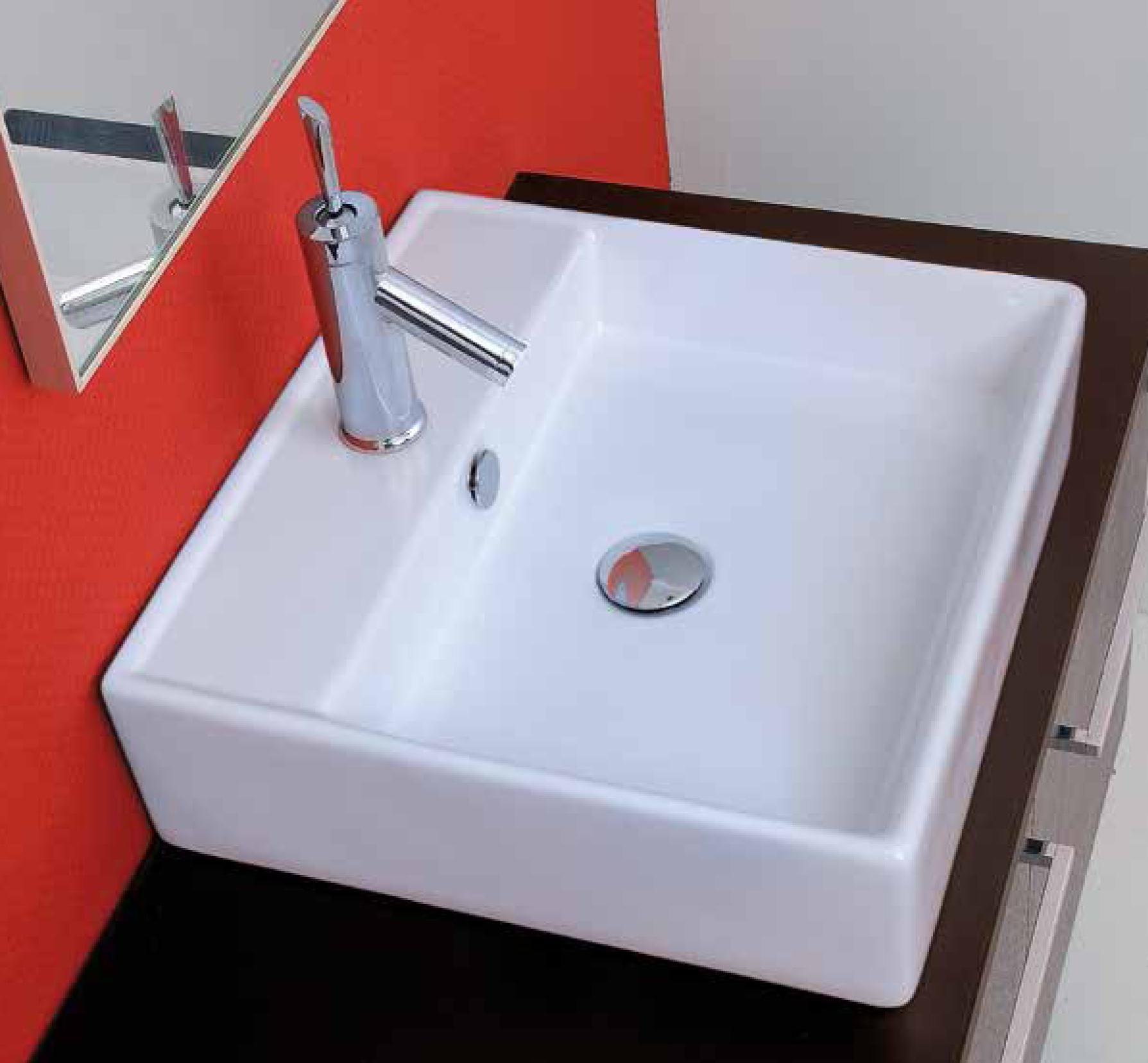 Aquatek DUBAI keramické umyvadlo 47x46,5x13 cm