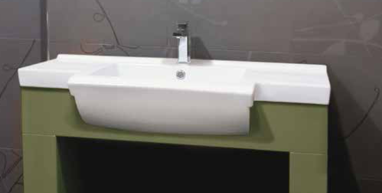 Aquatek MALAGA keramické umyvadlo 91x46x15,5 cm
