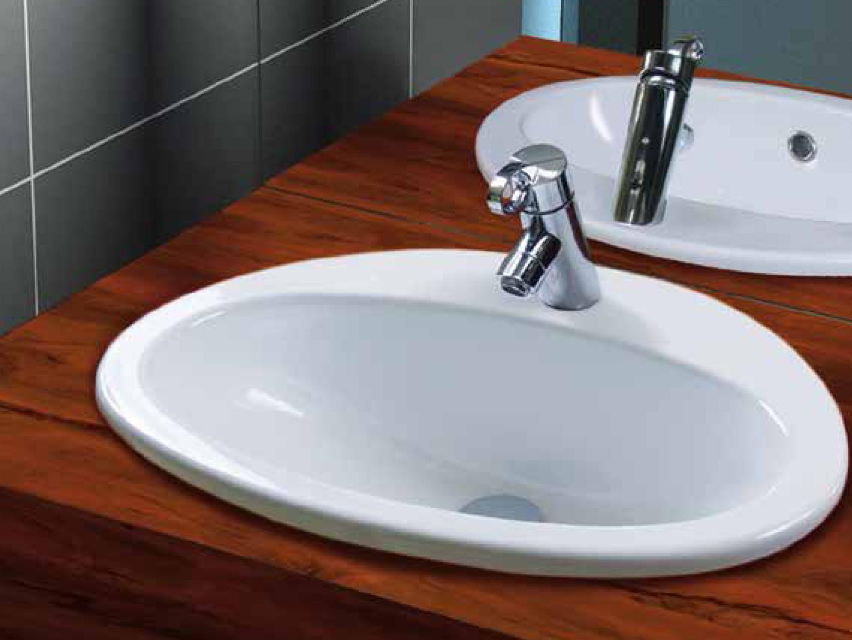 Aquatek MARINE keramické umyvadlo 56,5x48x20 cm
