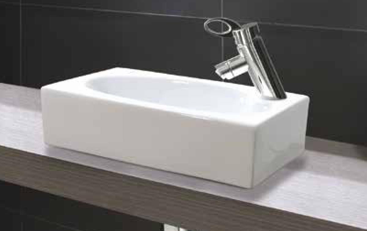 Aquatek TINY keramické umyvadlo 45,5x25,5x14 cm