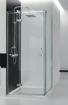 Aquatek VIP A3 90 cm CHROM Sprchová zástěna čiré sklo 8mm