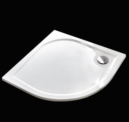 Aquatek Bent 90 sprchová vanička z litého mramoru čtvrtkruhová s protiskluzovou úpravou