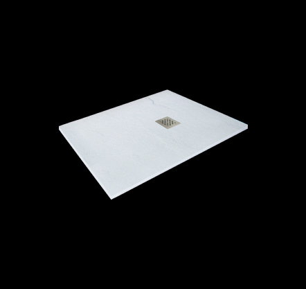 Aquatek Hard TOP 100x70 sprchová vanička z litého mramoru s břidlicovým povrchem bílá